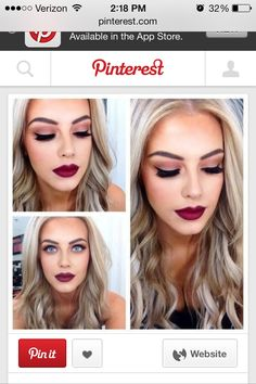 Prom makeup idea minus the heavy red lip
