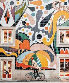 When Tiles become Art. Such a great use of Tiles in Portugal. Porto Portugal, Visit Portugal, Spain And Portugal, Portugal Travel, Portugal Trip, Best Instagram Photos, Amazing Street Art, Cities In Europe, Mural Art