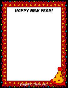 free happy new year border templates including printable border paper and clip art versions file formats include gif jpg pdf and png