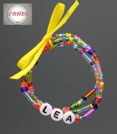 Kinder-Namens-Armband FebruarKonfetti  von TANBI-kids auf DaWanda.com