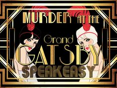 murder mystery party game set in the grand gatsby speakeasy. Mystery Dinner Party, Mystery Parties, Dinner Parties, Bridal Parties, Roaring 20s Party, 1920s Party, Gatsby Party, Speakeasy Party, 1920s Speakeasy
