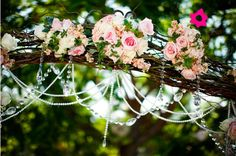 Detalhes de uma decoração de casamento vintage