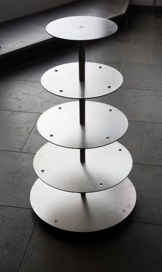 Aluminium Tortenständer Tortenetagere Hochzeit 5 Etagen Alu Ø 20 25 30 35 40 cm Etagere