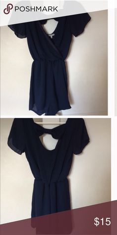 🎉NWOT Navy Romper🎉 NWOT, size small, bow in back:) Other