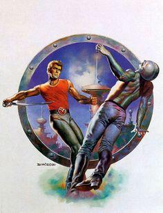 Cover art for the novel Flash Gordon: War of the Citadels by David Hagberg, published 1980. Artist: Boris Vallejo.