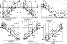 Stair detailing Stair Detail, Construction Drawings, Flat Stomach, Designs To Draw, Floor Plans, Stairs, Building, Steel, Flat Belly