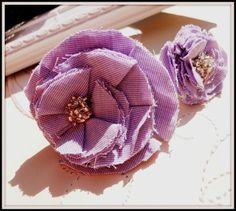 set of purple brooch and ring diy