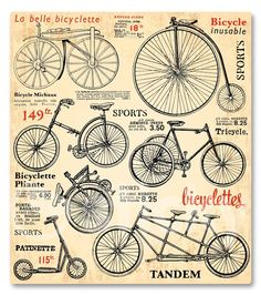 Canvas print BICYCLE2 by Sticky!!!