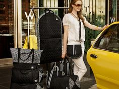 New Jet Set Black - luggage, graduation gifts, washable, durable, water resistant, and MADE IN USA!!