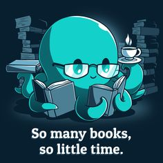 When it comes to your favorite books, sometimes you just wish you could read them all at once! Cute Cartoon Drawings, Cute Animal Drawings, Cute Animal Quotes, Cute Animals, Dibujos Zentangle Art, Image Deco, Nerdy Shirts, Kawaii Art, So Little Time