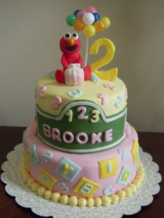 Elmo birthday cakeYou could use the Elmo printable to cut out