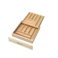 Buy the Rev-A-Shelf Natural Wood Direct. Shop for the Rev-A-Shelf Natural Wood Series 18 Inch Two Tier Cutlery Drawer with Blum Soft-Close Slides and save. Kitchen Drawer Organization, Kitchen Drawers, Utensil Storage, Cabinet Organizers, Kitchen Storage, Shelf Organizer, Kitchen Cupboard, Storage Ideas, Interiors