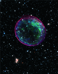 The Remnant Of A Supernova That Occurred  Light Years From Earth The Stellar Explosion