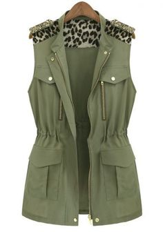 Fast Shipping World Wide Delivery:3-7 Days SKU:outshe1308098972     Types :Coats     Color :Green     Collar :Collar     Style :Fashion     Placket :Zipper     Length :Short     Season :Autumn     Size available :M,L