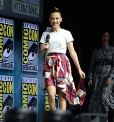 Millie Bobby Brown in Calvin Klein - Godzilla King Monsters - 3 San Diego, Vera Farmiga, Browns Fans, Eleven Stranger Things, Millie Bobby Brown, Brown Dress, Beautiful Person, Celebs, Celebrities