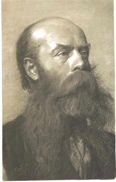 Portrait of a man with beard in three quarter profil, 1879 - Gustav Klimt