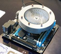 An innovative all-aluminium cooler that works as both heatsink and CPU fan using kinetic cooling. #tech #computer