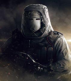 Rainbow Six Siege - White Mask Heavy Bomber , Sebastien Giroux on ArtStation at https://www.artstation.com/artwork/rainbow-six-siege-white-mask-heavy-bomber