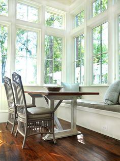 Eat in kitchen, bench seat, full windows.