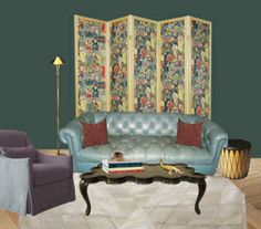 One designer's mock-up of a palette using BM Tarrytown Green. From ...
