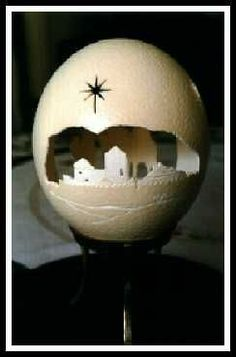 Bethlehem on an eggshell