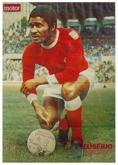 Eusebio of Benfica in 1965.