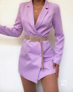 Perfect valentines day dresses from 💜 Use my code for a discount! Lila Outfits, Purple Outfits, Mode Outfits, Cute Casual Outfits, Dress Outfits, Summer Outfits, Grunge Outfits, Blazer Outfits, Suit Fashion