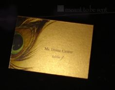Peacock theme wedding invitation card - for your engagement ceremony maybe :)