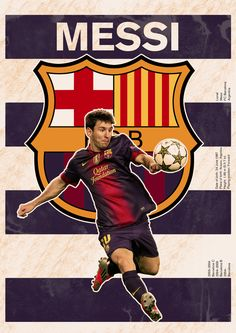 The Messi/Barcelona poster