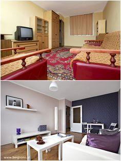 Mieszkania olsztyn, ul. żołnierska. Home Staging w pełnym wymiarze. Widok salony przed i po.    #MieszkaniaOlsztyn, #NieruchomościOlsztyn
