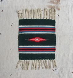 vintage c. 1970s Navajo woven wool wall by MouseTrapVintage, $22.00