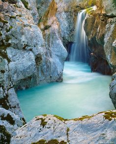 Soca Waterfall, Slovenia  http://www.hotel-booking-in.com  #hotels #travel #luxury