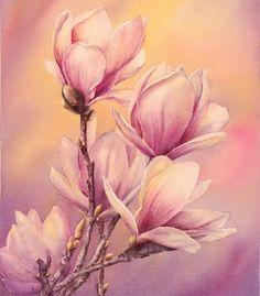 ... акварелью рисунки цветов акварелью