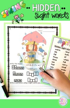 Kindergarten, first and second grade students will love using a magnifying glass to find the hidden sight words in these adorable Spring graphics. They will be engaged as they recognize, practice reading, and write the words. Students will also practice writing a complete sentence with one or more of the sight words.