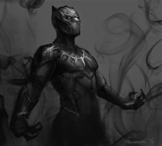 sun-stark  I've always been Team Captain America…… and I saw my true king today…. TmT Gosh, he was so beautiful and shiny. I'll go wherever he will go. If he joins Hydra, then Hydra shall be my new home.   Quick doodle of Black Panther!