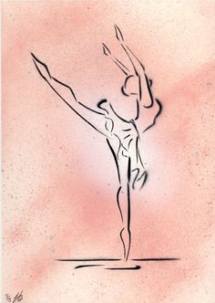 ARTFINDER: Oltremare by Richard Yeomans - 297mm x 210mm (A4 size) Spray Paint on 220gsm Paper This is number 5 of an edition of 5 stenciled spray paint ballet dancer paintings. Inspired by a pi...