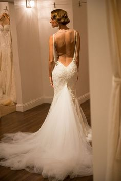 Sheath Wedding Dress : Tales of the Jazz Age Launch Party at Kinsley James {Galia Lahav Haute Couture}