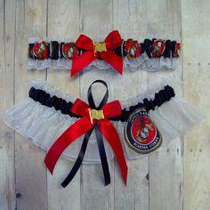 Wedding Garter Set Handmade With U S Marines Fabric