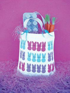 Peep decorated Tote Bag