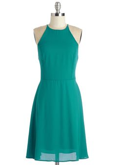 Refreshing Finesse Dress in Teal. Let your style lift your spirits in the effervescent chiffon fabric of this teal dress. #blue #modcloth