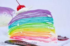 Rainbow Crepe Cake: Rainbow Crepe Cake