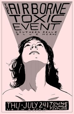 Airborne Toxic Event - Southern Belle - Blue Horns gig poster