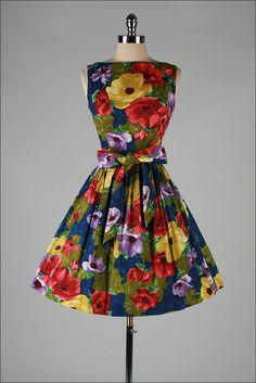 ~1950's Dress ~ Please like http://www.facebook.com/RagDollMagazine and follow @RagDollMagBlog @priscillacita