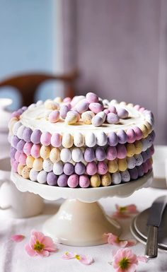 Martha Collison from The Great British Bake Off shows you her recipe for a beautiful ombré mini egg cake. Watch the recipe video on the Waitrose website. Perfect for Easter Sunday dessert or afternoon tea. Food Cakes, Cupcake Cakes, Sweets Cake, Baking Recipes, Cake Recipes, Dessert Recipes, Bake Off Recipes, Recipes Dinner, British Baking Show Recipes