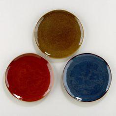 Reactive Glaze Plates, Set of 3
