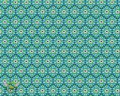 Swafing revers tissu rayé bleu Bleu 0,50 M