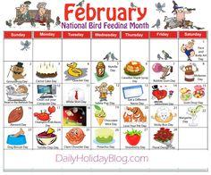 february daily holidays calendar
