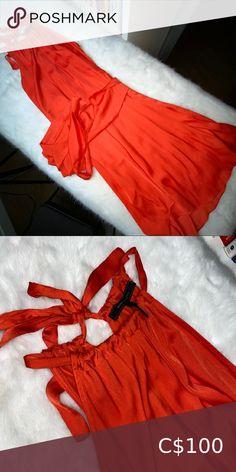 BCBG organgy/red satin dress Satin, worn a few times. Wrap around sash for the waist Size XXS but will fit a small BCBGMaxAzria Dresses Midi Red Satin Dress, Satin Dresses, Bcbgmaxazria Dresses, Plus Fashion, Fashion Tips, Fashion Trends, Sash, Times, Colour