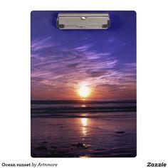 Ocean sunset clipboard