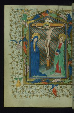 Book of Hours of Daniel Rym Crucifixion Walters Manuscript W.166 fol. 115v by Walters Art Museum Illuminated Manuscripts